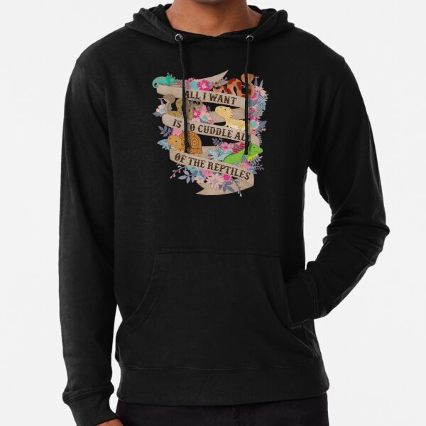 Cuddle All Of The Reptiles Lightweight Hoodie
