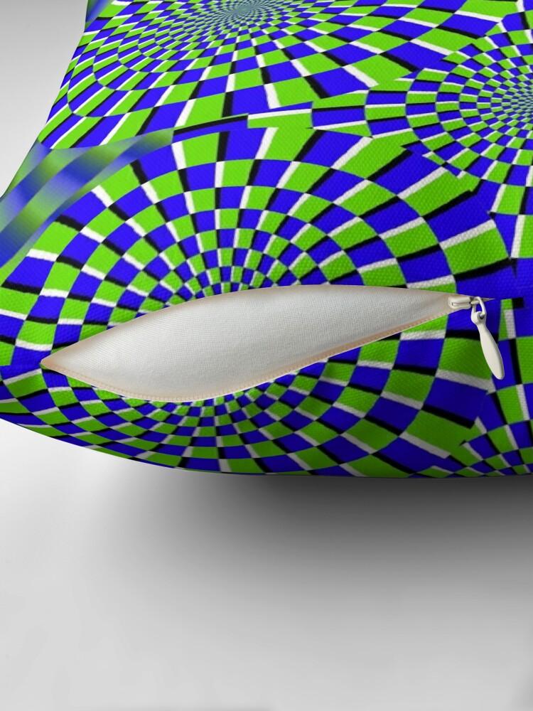 Alternate view of Optical Illusion, visual illusion Throw Pillow