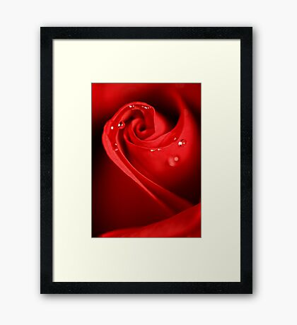 Red Swirl Framed Print
