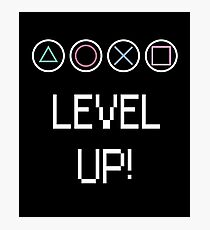 Level Up! Video Game Buttons Photographic Print