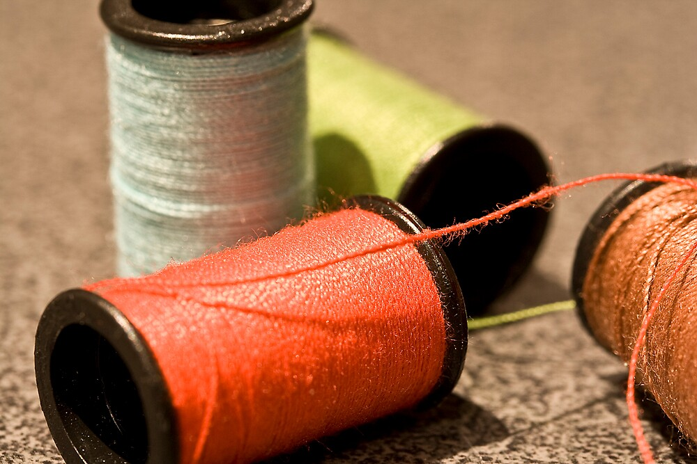 sewing threads by albyphotos