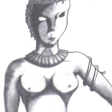 Masked Amazon Warrior by ecbarre