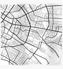 Friedrichshain - Berlin - Germany - Minimalist Design Map Poster