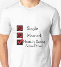 Mentally Dating Adam Driver Slim Fit T-Shirt