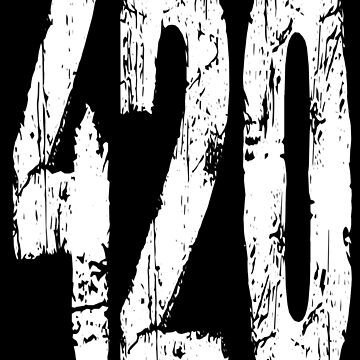 420 - Ganja -  Black and White - 420 Black and White by kevit