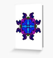 Jagged Pixel Art Design Greeting Card