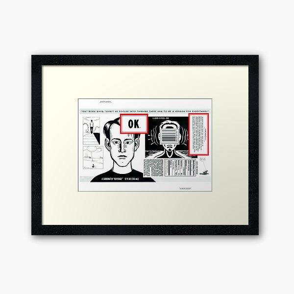 OK Soda Framed Art Print