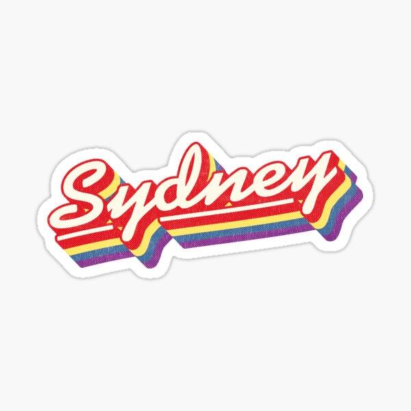 Sydney, NSW | Retro Rainbow Sticker