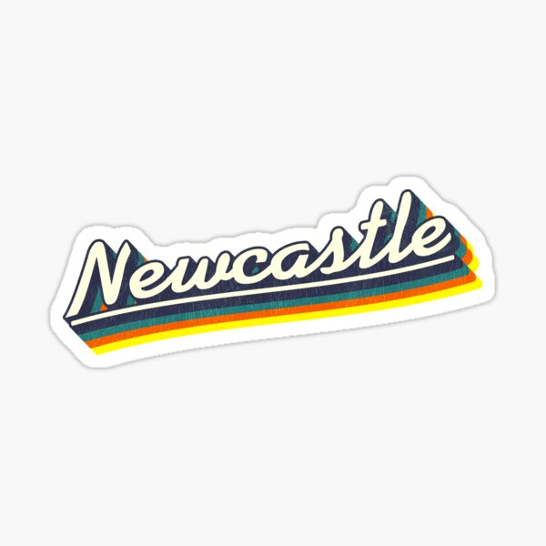 Newcastle, NSW | Retro Rainbow Sticker