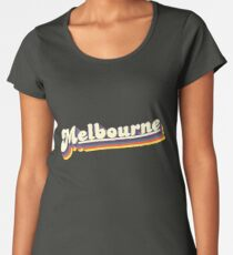 Melbourne, VIC | Retro Rainbow Women's Premium T-Shirt