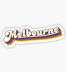 Melbourne, VIC | Retro Rainbow Sticker