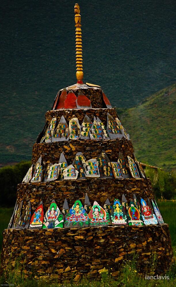 Prayer Mound Ganden Sumtseling Gompa by ianclavis