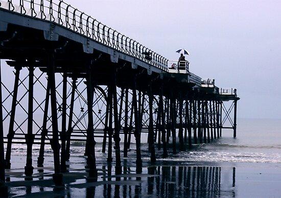 Rainy Day On The Pier - Saltburn - Cleveland by Trevor Kersley