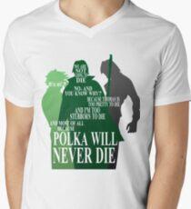 Polka Will Never Die Men's V-Neck T-Shirt