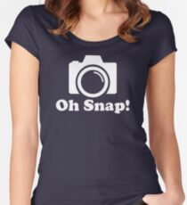 VINTAGE TR912 Oh Snap! Funny Photographer New Product Women's Fitted Scoop T-Shirt