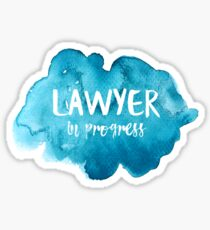 Lawyer in Progress Sticker