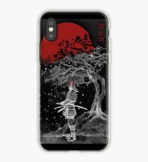 Vinilo o funda para iPhone Samurai Blood Moon