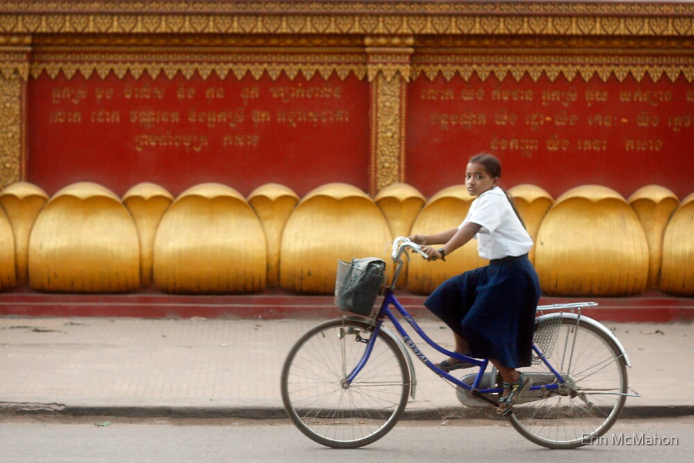 Bicycling - Siem Reap - Cambodia by Erin McMahon