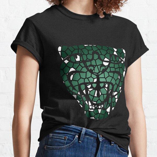 Jaguar head in British Racing Green Stainglass Classic T-Shirt