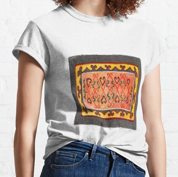 #Ковровый #узор #балкарского #карачаевского #войлочного #ковра #Carpet #pattern of a #Balkarian & #Karachay #felt #carpet #Ковровыйузор #CarpetPattern #таулу #tawlu #mountaineer #таулула #tawlula Classic T-Shirt