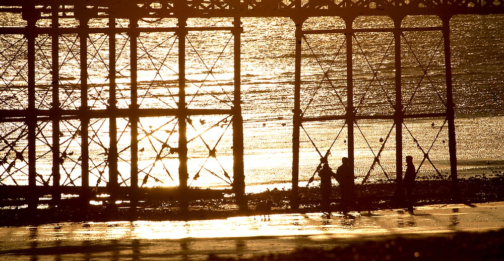 Sunset under Worthing Pier by Greg Roberts
