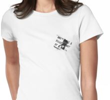 Don't make a mountain out of a mogul 2 Womens Fitted T-Shirt
