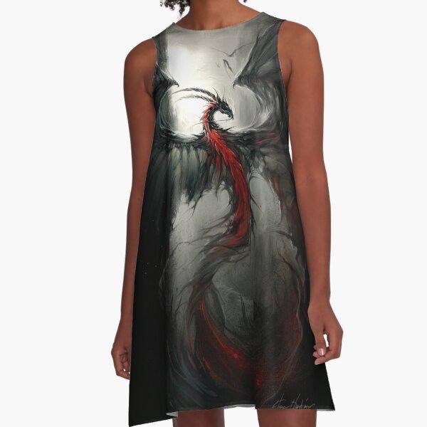 Møat-Tarvaa - © Art by Élian Black'Mor A-Line Dress