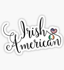 Irish American Entwined Hearts Sticker Sticker
