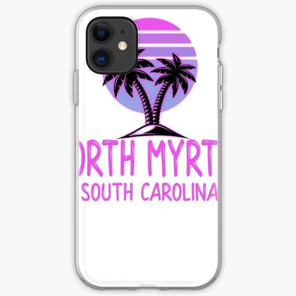 North Myrtle South Carolina Vintage Retro Beach iPhone Soft Case