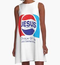 Jesus & Mary Chain - Lost Generation Pepsi Mashup A-Line Dress