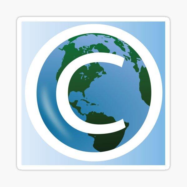 COPYRIGHT EARTH Sticker