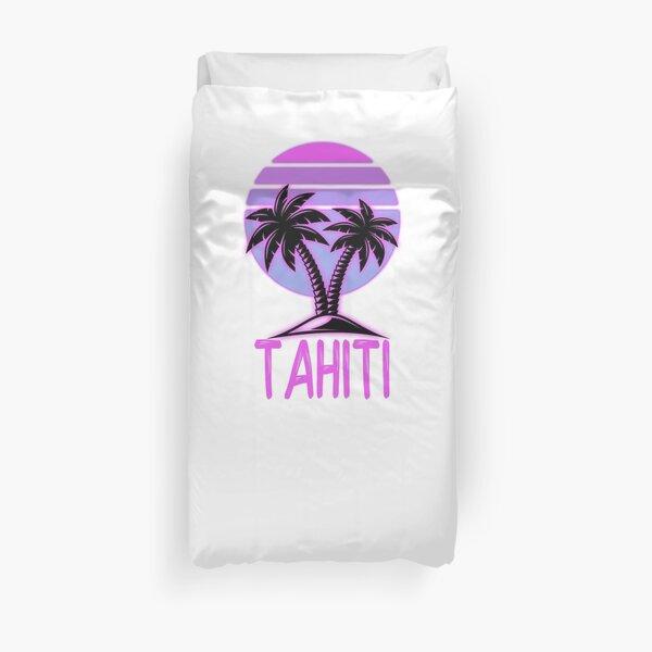 Tahiti Vintage Retro Beach Housse de couette