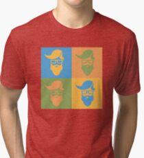 Pop art style hipster Tri-blend T-Shirt