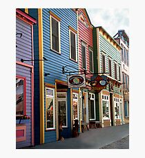 The Shops in Crested Butte Photographic Print