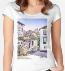 Old Granada, Spain Women's Fitted Scoop T-Shirt