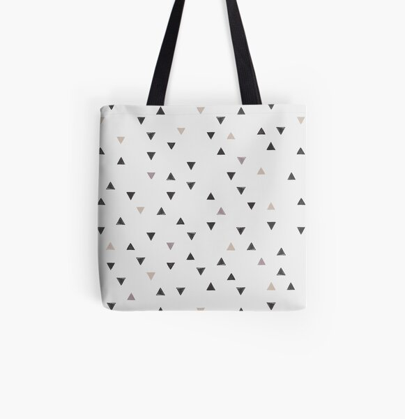 DOWN UP / scandi white / warm grey / flax / lavender Allover-Print Tote Bag