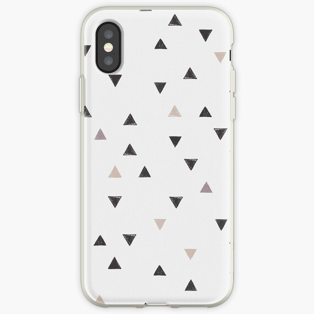 DOWN UP / scandi white / warm grey / flax / lavender iPhone-Hüllen & Cover