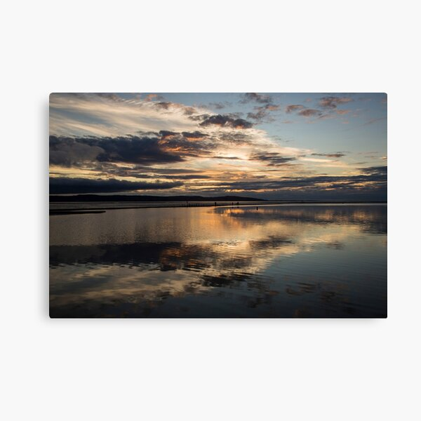 West Kirby Sunset Reflection Canvas Print