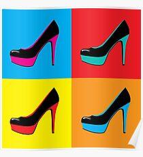 pop art shoes Poster