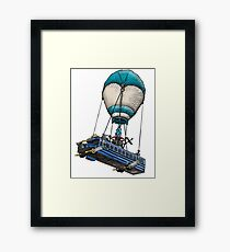 Fortnite Bus Drawing, Colored version Framed Print