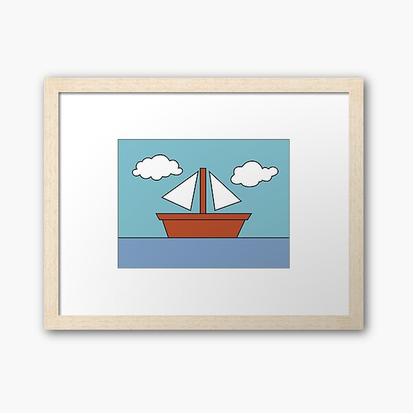 The Simpsons Boat Picture Framed Art Print