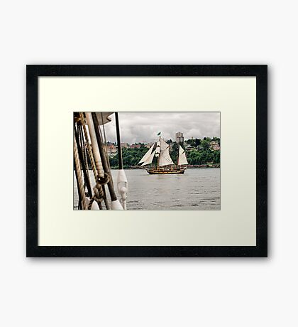 Off the Starboard Bow Framed Print