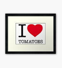I ♥ TOMATOES Framed Print