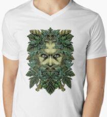 Camiseta de cuello en V El hombre verde