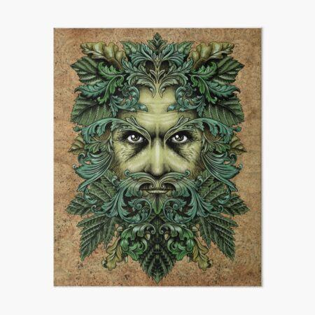 der grüne Mann Galeriedruck