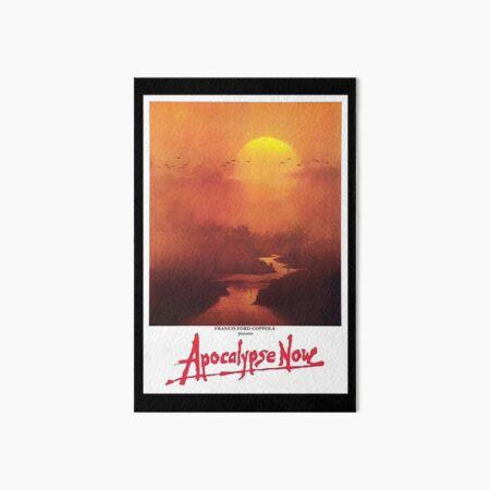 APOCALYPSE NOW. Movie, Film, OLD Poster, ON BLACK. Art Board Print