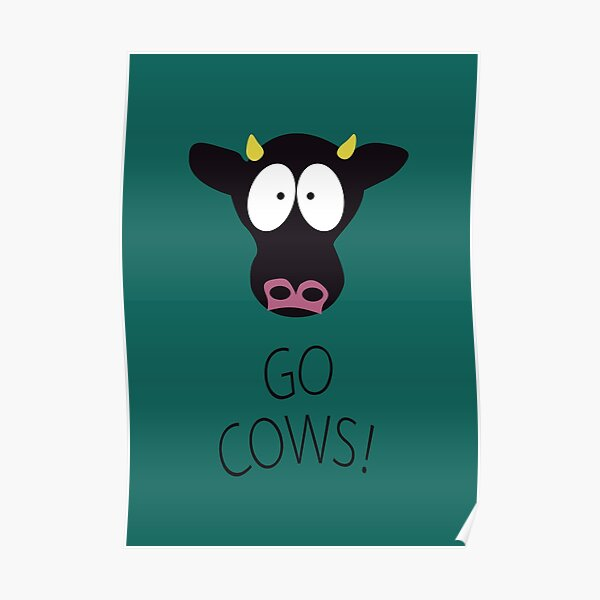 South Park Kyle's Room Go Cows Poster