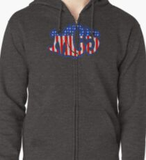 VINTAGE OD379 Mc5 Americana Kotj Trending Zipped Hoodie