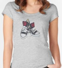 Sneakers  Women's Fitted Scoop T-Shirt