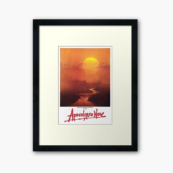 APOCALYPSE NOW. Movie, Film, OLD Poster, ON BLACK. Framed Art Print